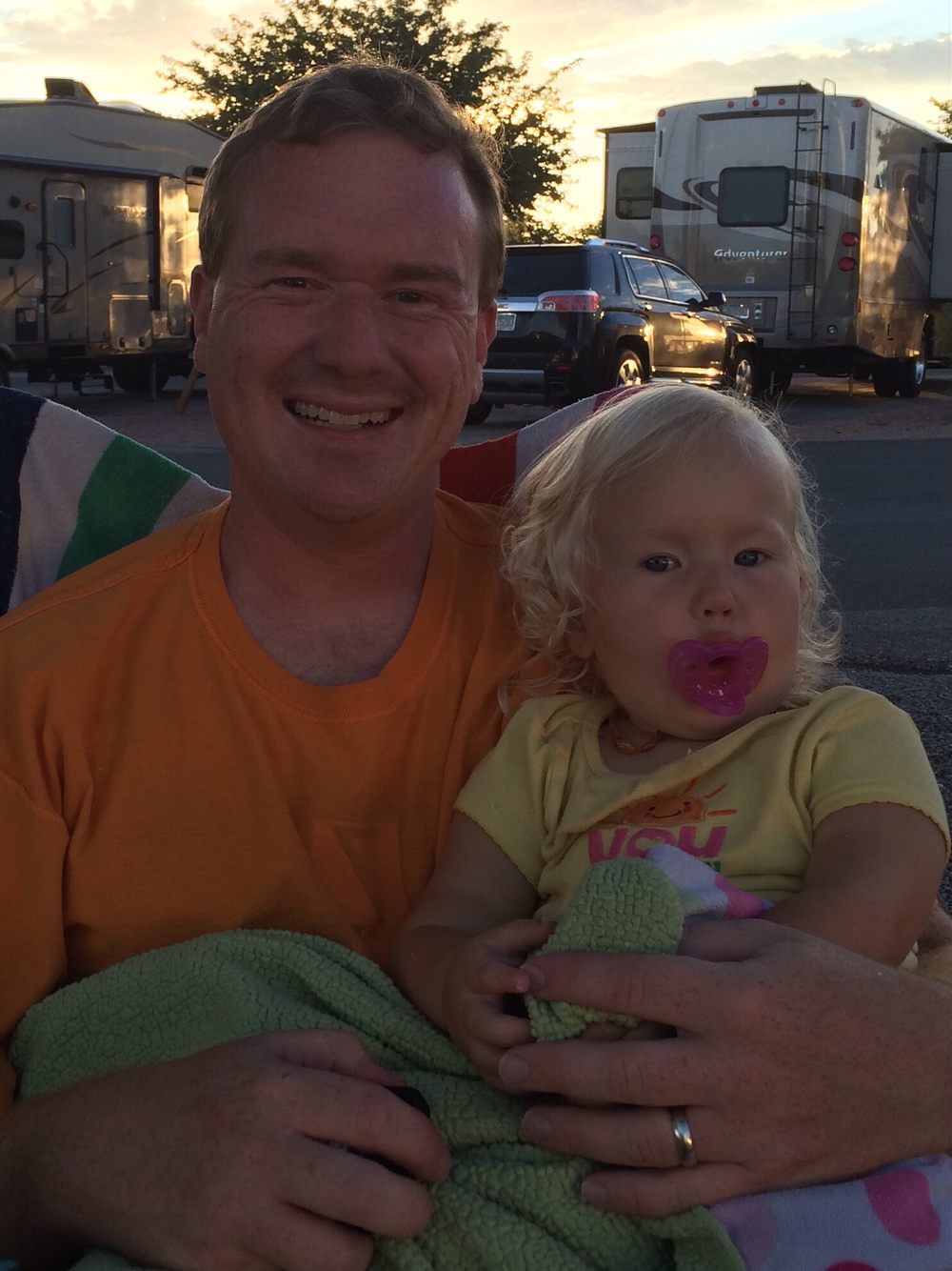 Daddy and the birthday girl.