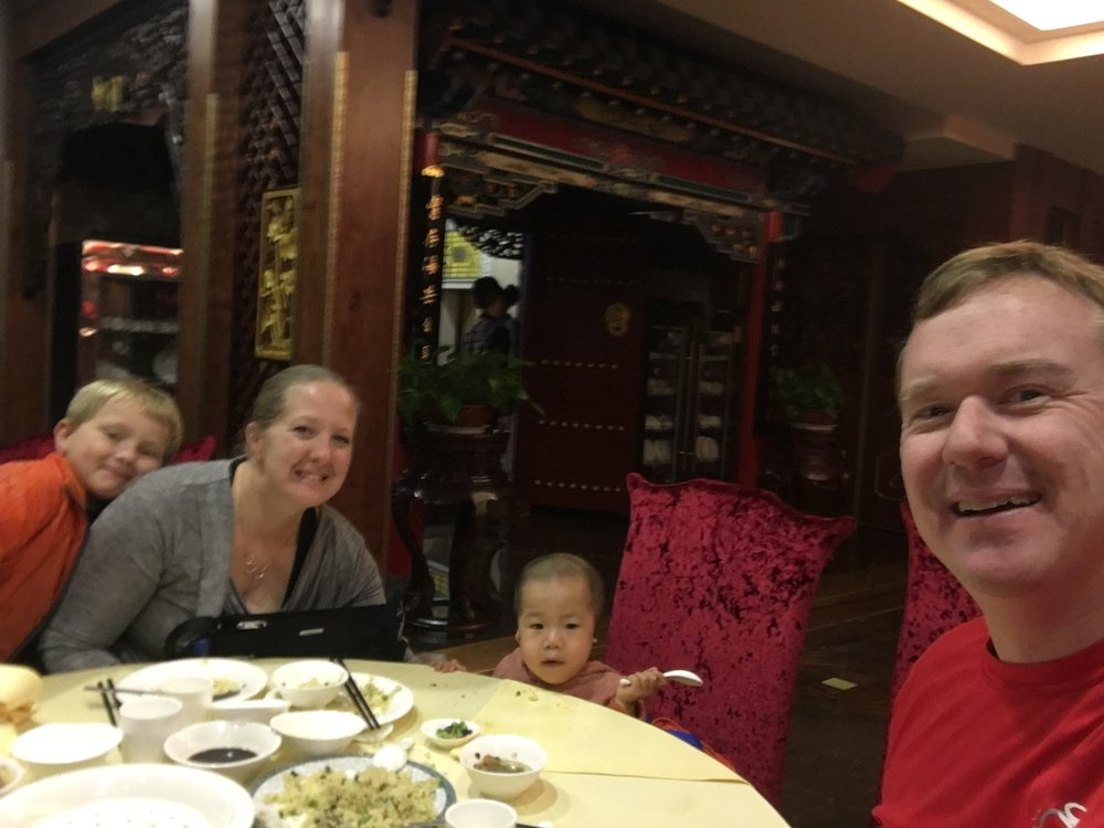 Victory = eating dumplings, rice, noodles. I had a little bit of all of the above.