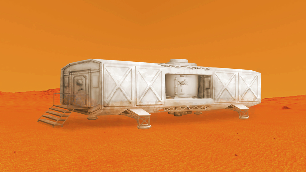 Concept art of one of the habitat modules