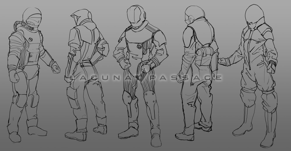 Some early concept sketches. Click to enlarge