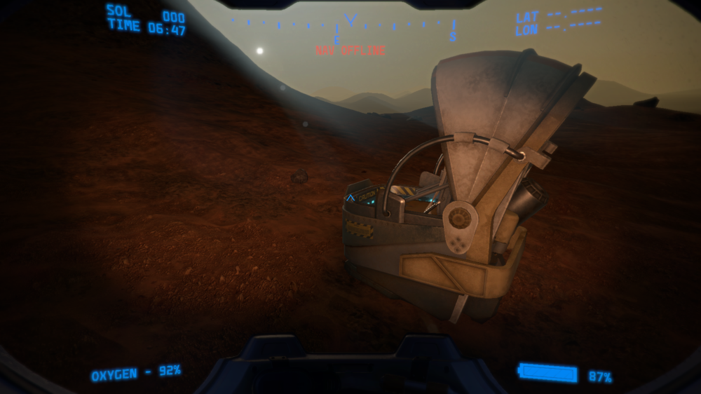 One of several possible emergency landing sites where you can start your playthrough...