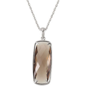 Genuine Smoky Quartz Necklace, style #68524 $149.00