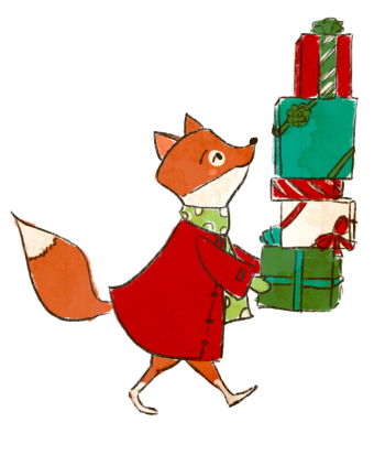 This jaunty little fox is obviously far more prepared for Christmas than I am!