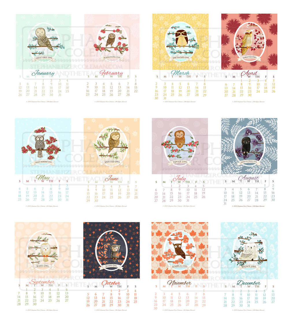 2014 owl calendar samples.jpg