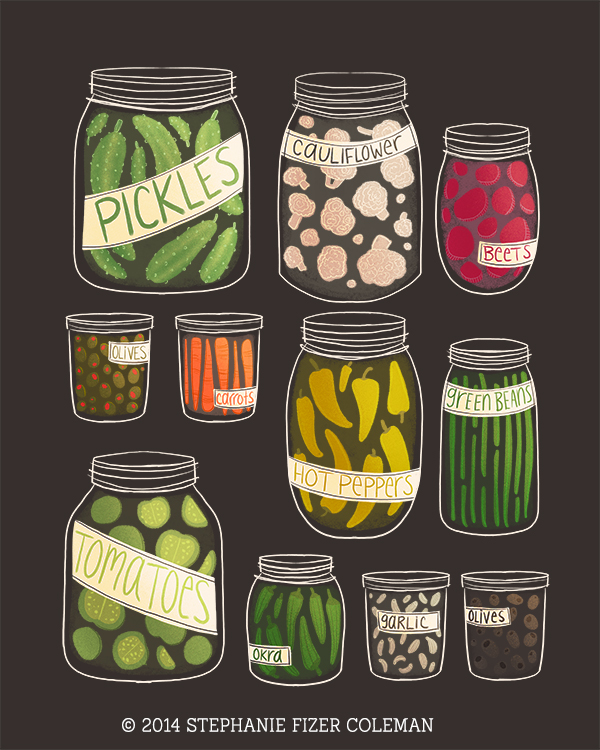 Pickled Veggies Illustration/Stephanie Fizer Coleman