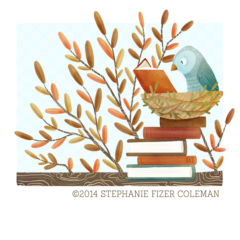 The Bookish Forest:  Bird   © 2014 stephanie fizer coleman