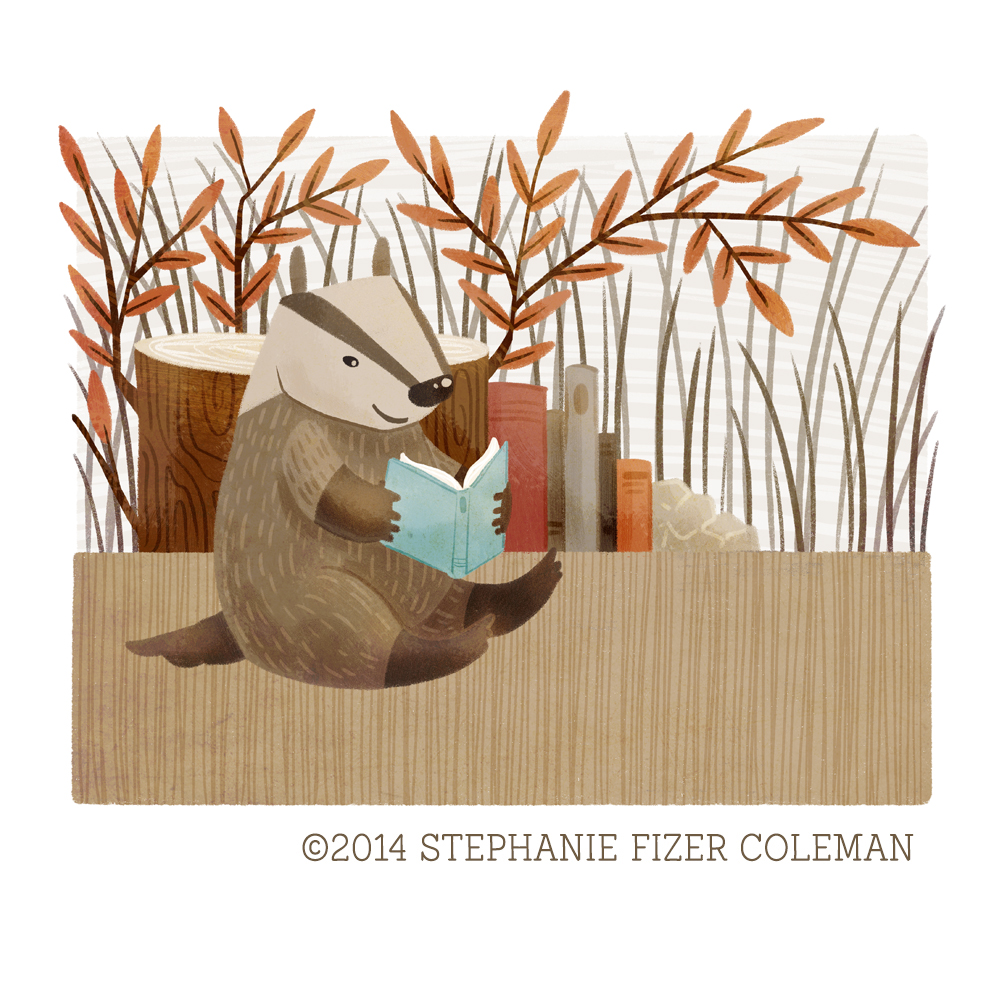 The Bookish Forest: Badger  © 2014 Stephanie Fizer Coleman