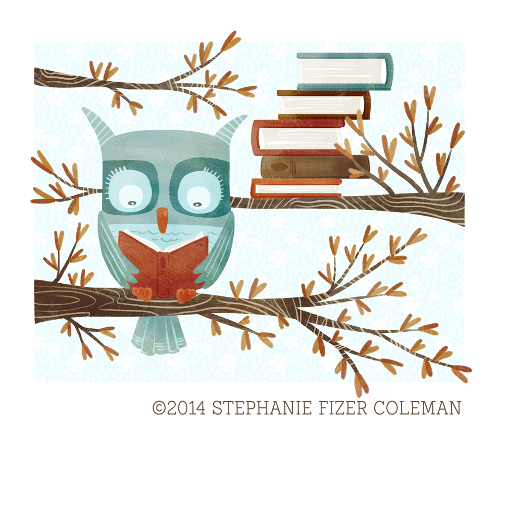 The Bookish Forest: Owl © 2014 Stephanie Fizer Coleman