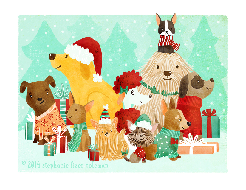 Christmas Card: Quick Process — Stephanie Fizer Coleman
