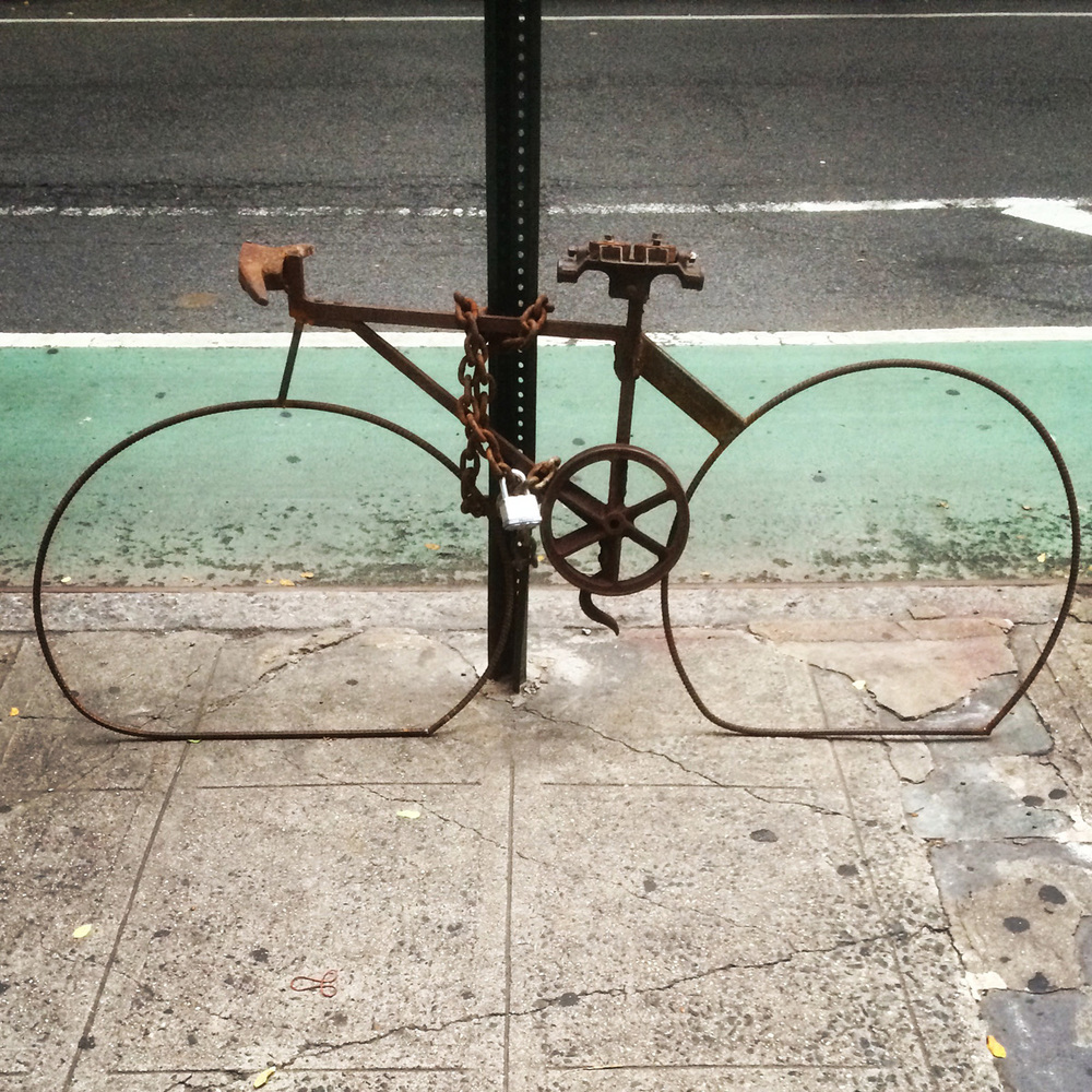 Badass bicycle creation on Bleecker Street