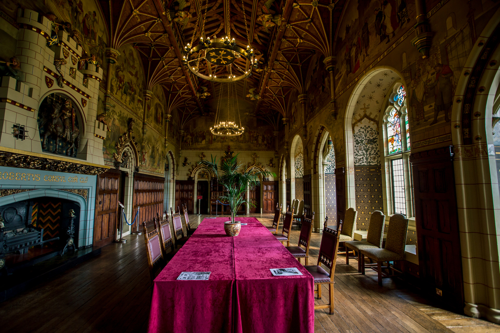 cardiff castle interior hall