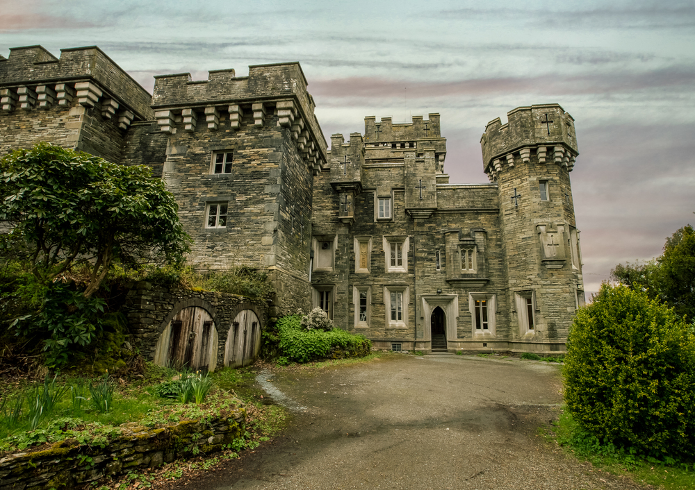 ©2015 jennifer bailey wray castle, rear view, windermere, cumbria