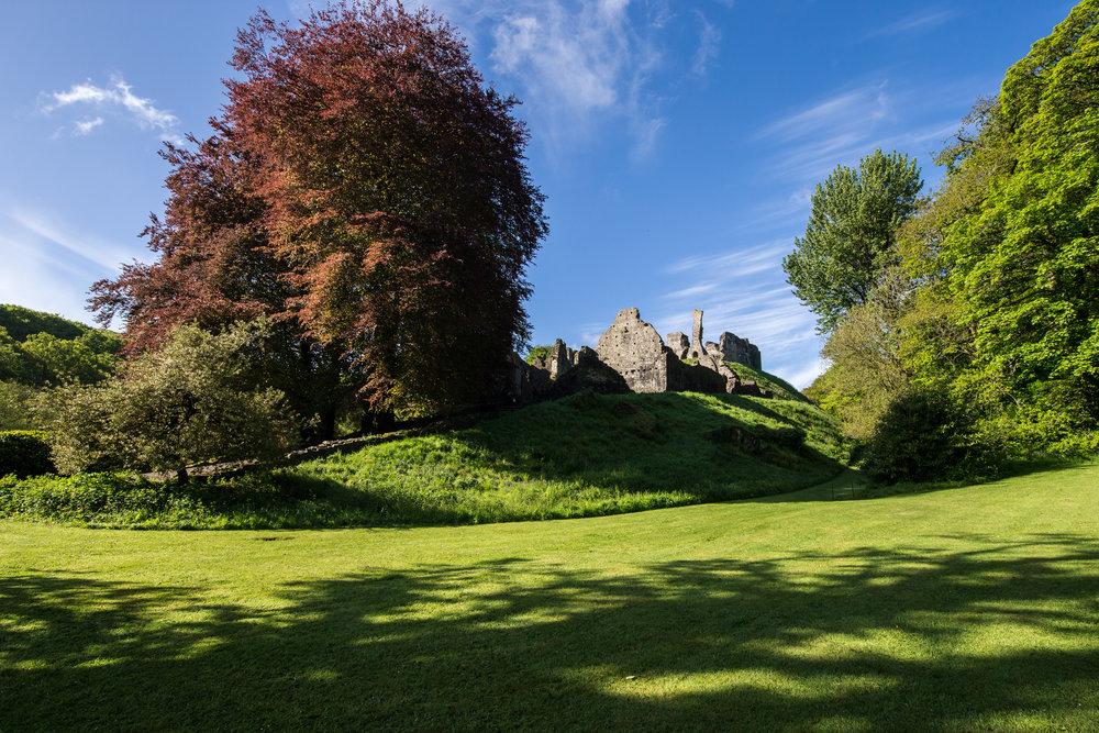 okehampton castle devon england