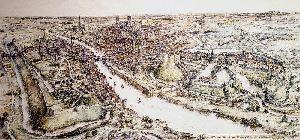 15th century York panorama ©Edwin Risdale Tate 1915