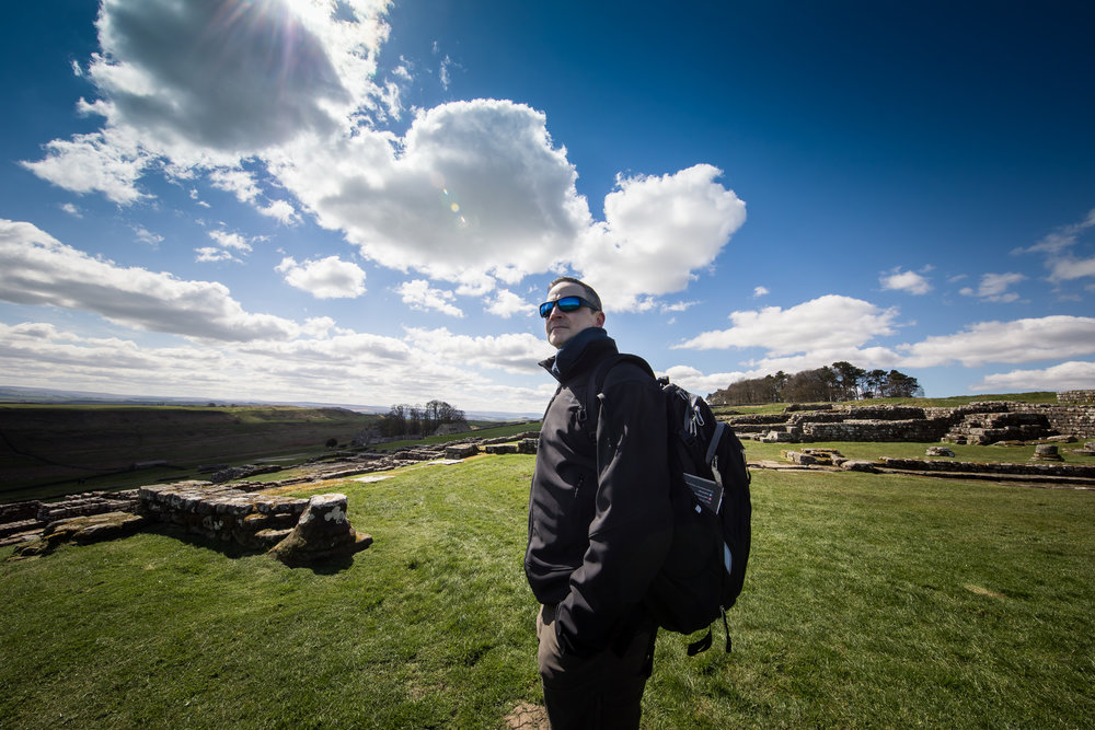 my husband looking amazing at hadrian's wall ©jennifer bailey 2018