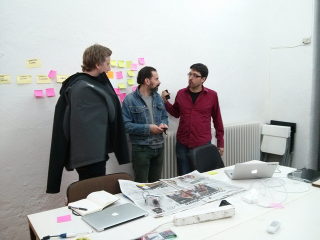 Initial concepting session for Winning Formula, Barcelona, November 2013.
