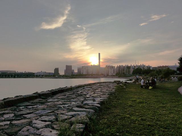 Sunset in Helsinki.