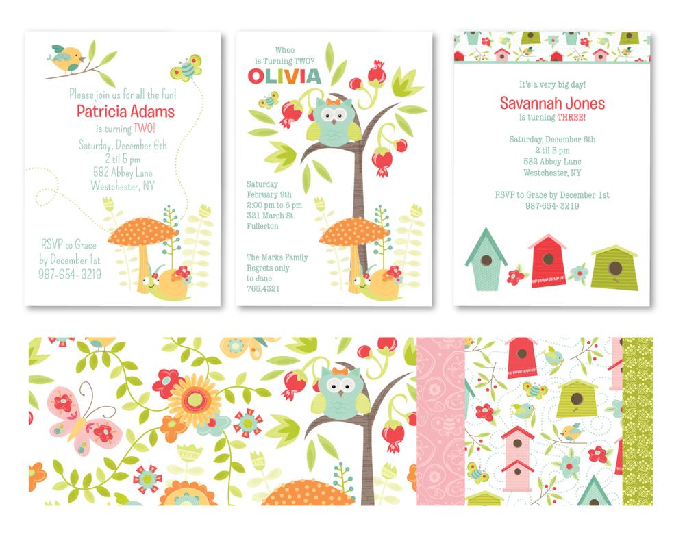 Enchanted Garden Party Invitations