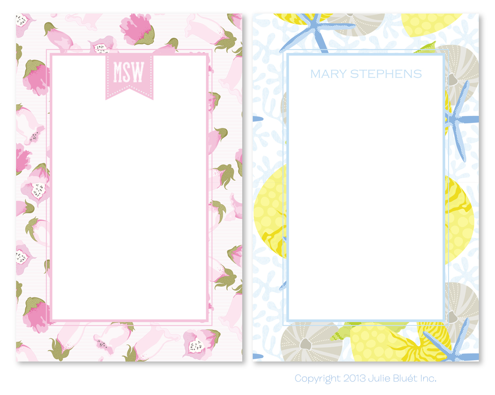 Note Pads from Julie Bluet