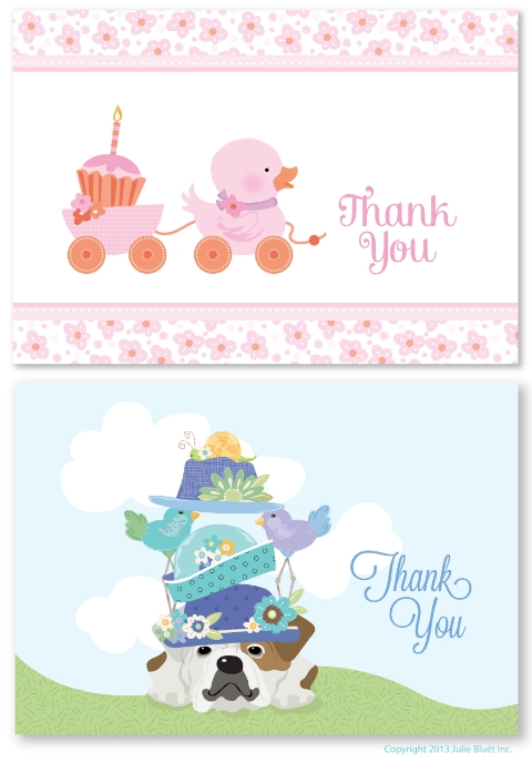 Baby & Kids Note Cards from Julie Bluet