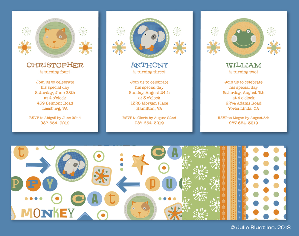 Custom Invitations from Julie Bluet