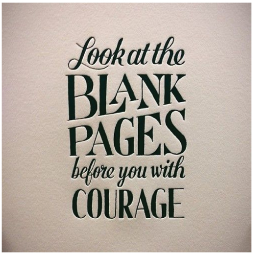 Blank Pages with Courage