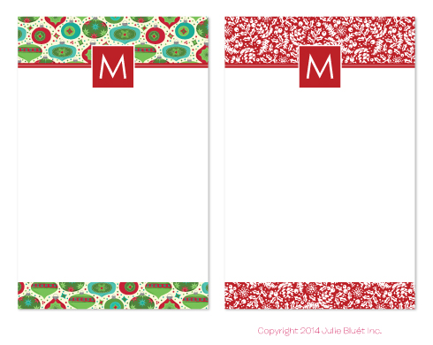 Holiday Note Pads