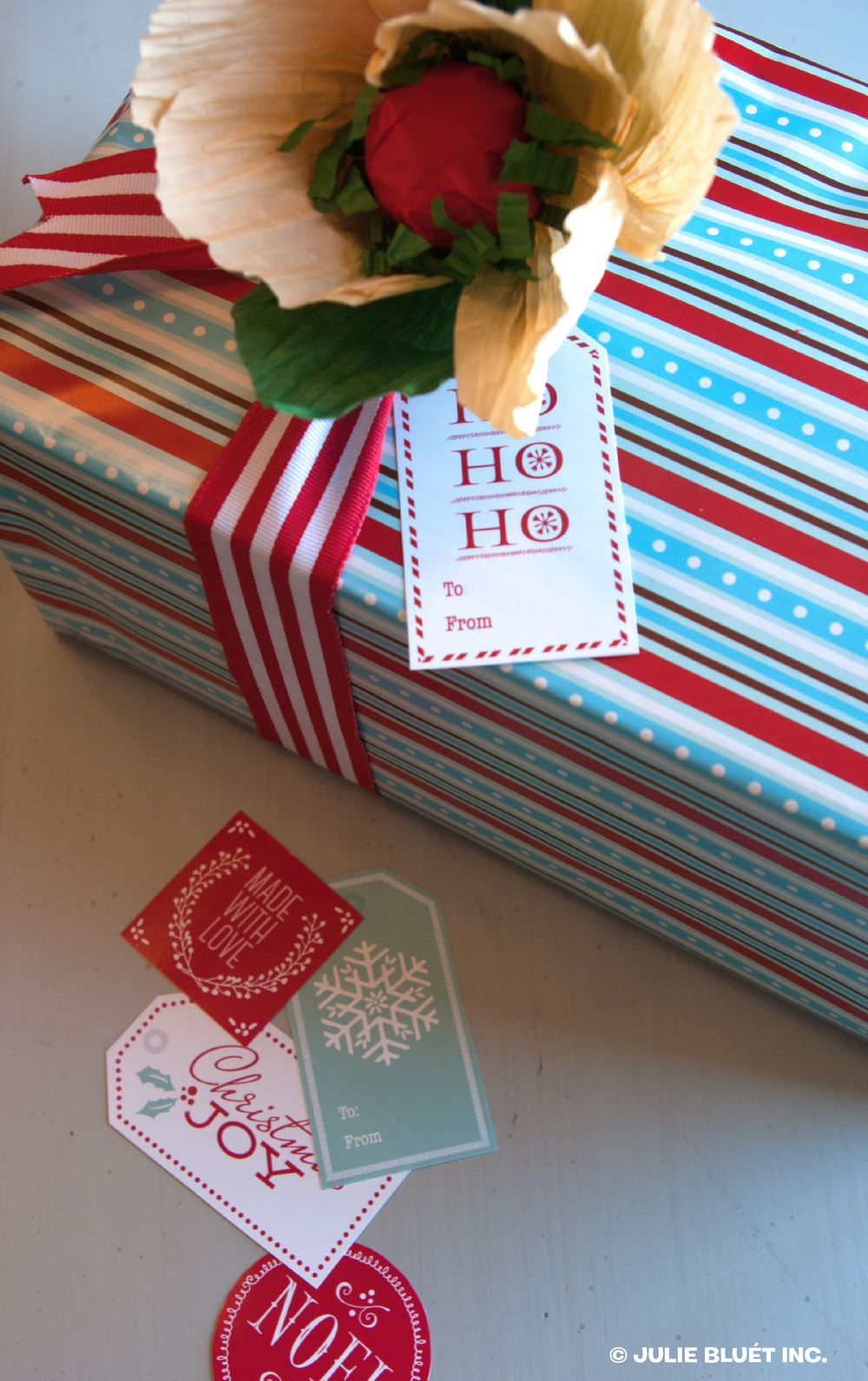 Christmas Poppy and Christmas Tags