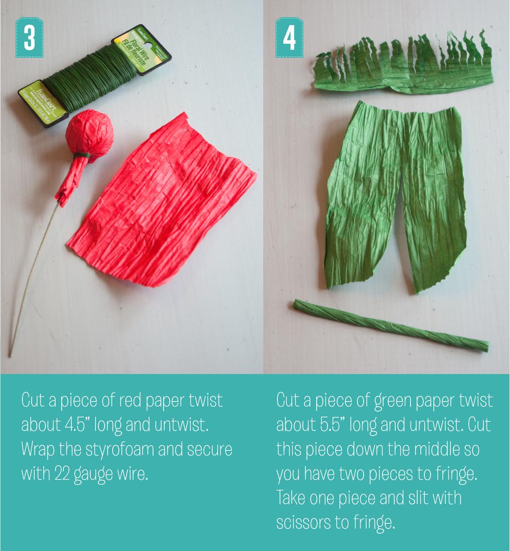 Christmas Poppy Steps 3 and 4