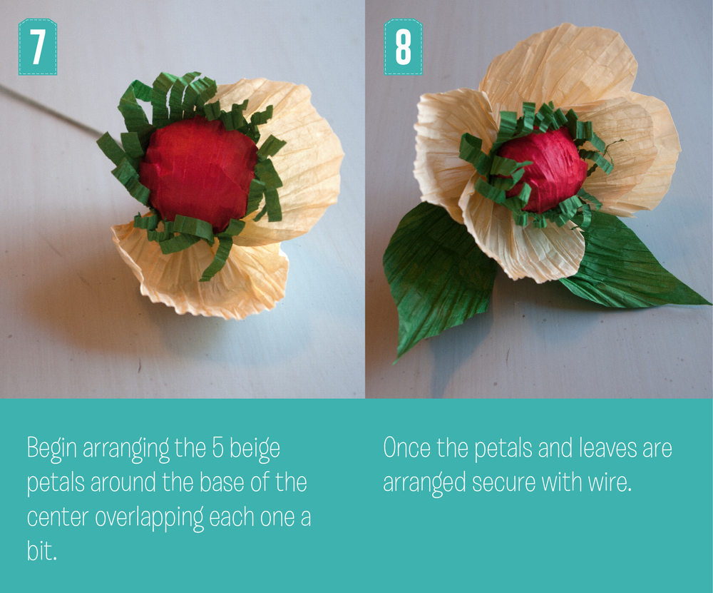 Christmas Poppy Steps 7 and 8