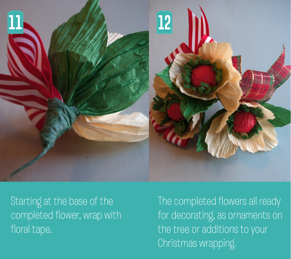 Christmas Poppy Steps 11 and 12