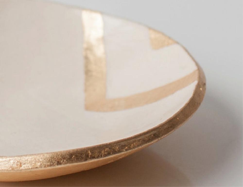 Gold Zag Dish