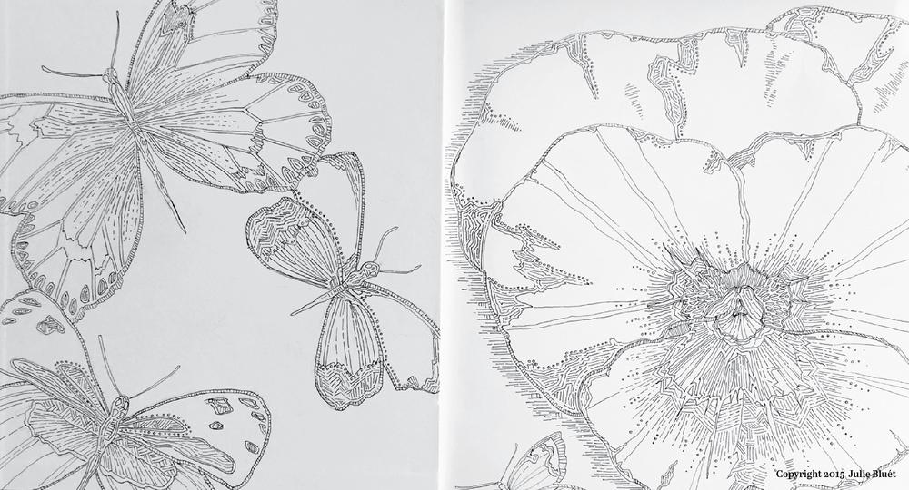 Julie Bluet Sketchbook Pages