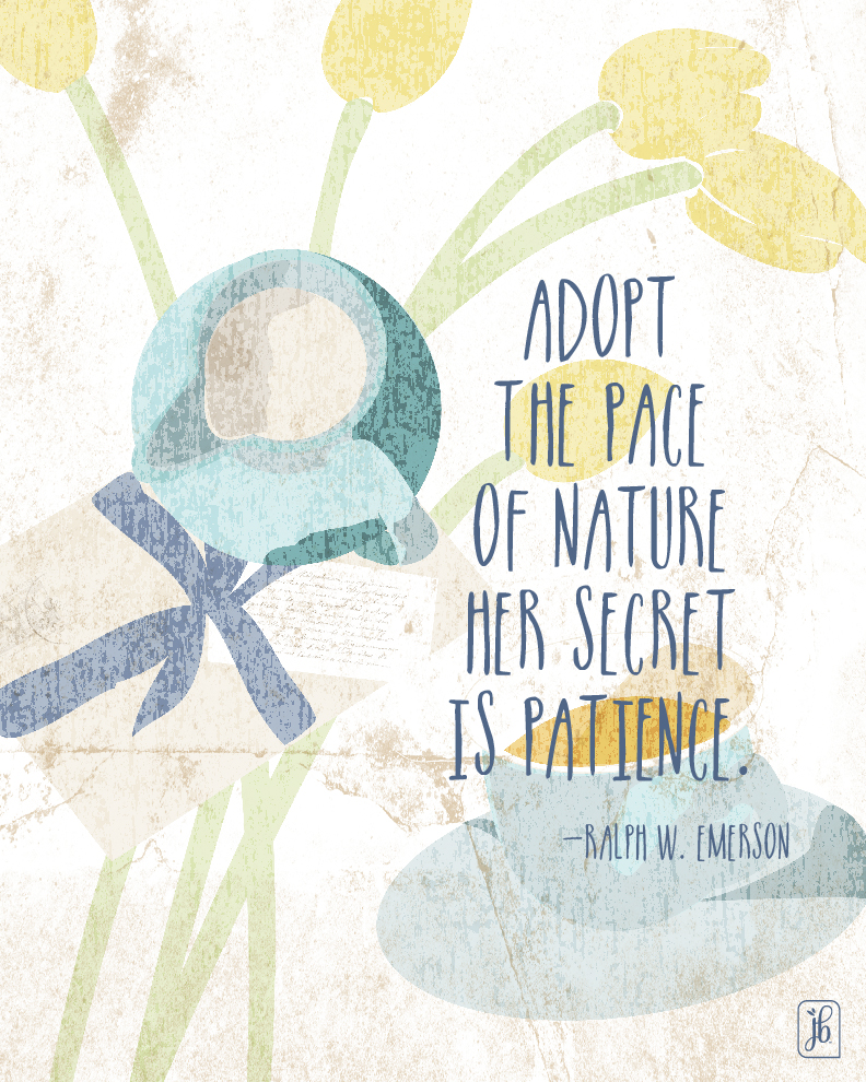 Pace of Nature Quote