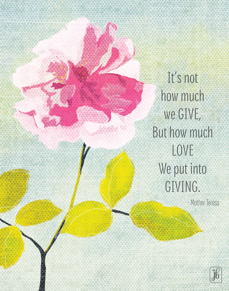 Give with Love Quote