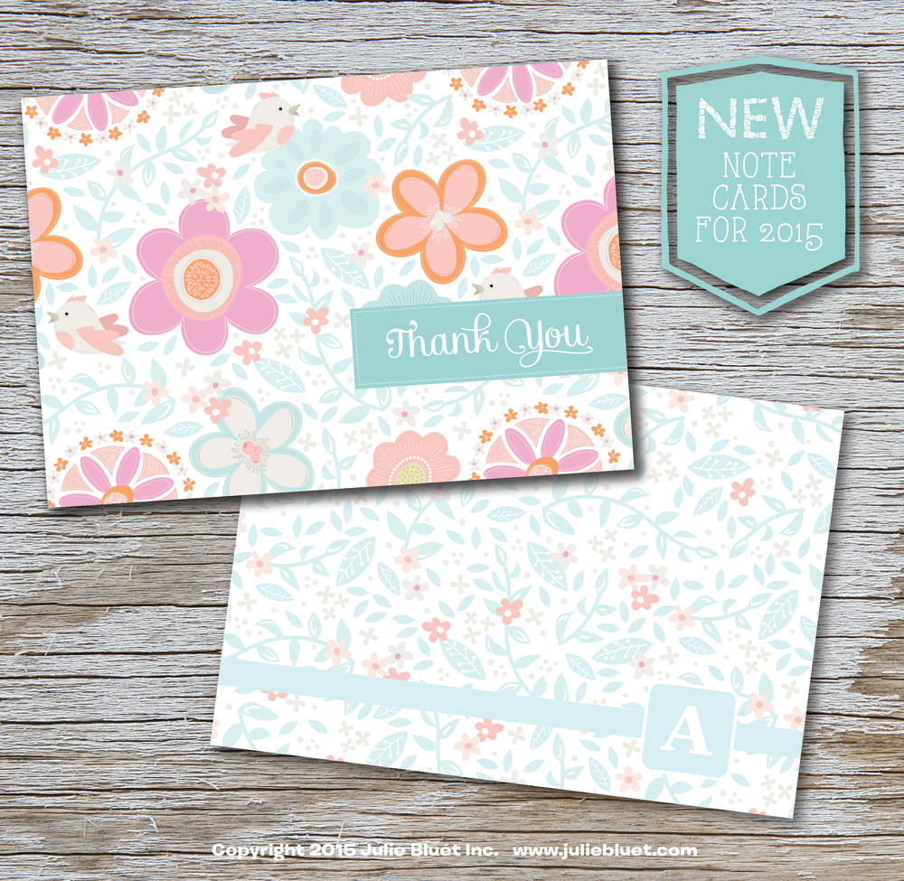 New Spring Note Cards