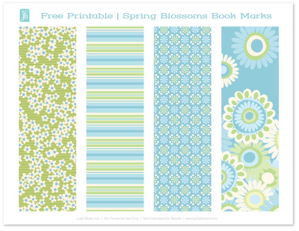 Free Printable: Bookmarks for Spring — Julie Bluet