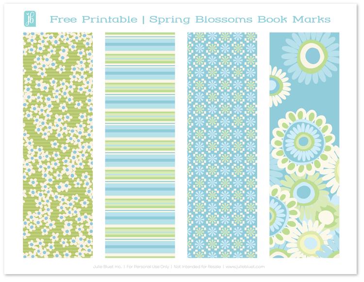 Free Printable: Bookmarks for Spring — Julie Bluet | Designer ...