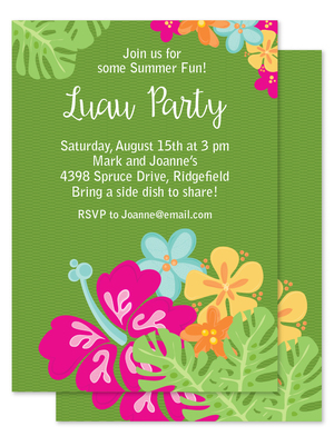 luau party invitation julie bluet designer stationery and gifts