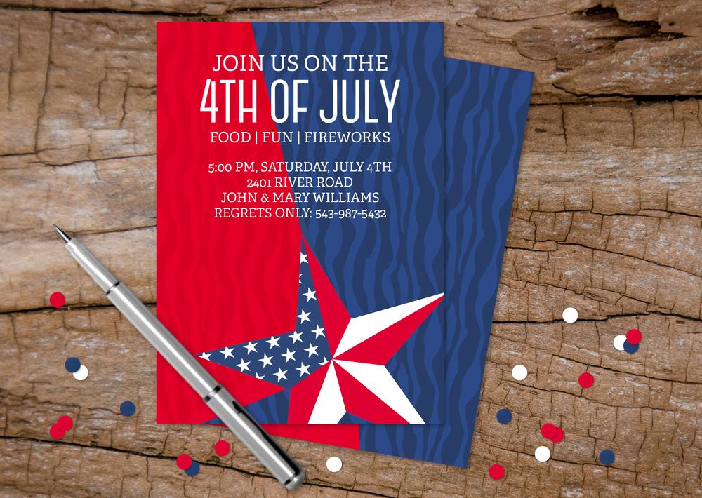 Custom 4th of July Invitations