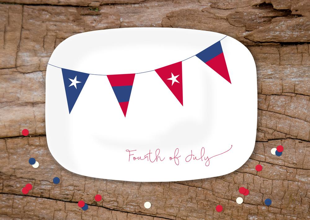 Patriotic Banner Platter