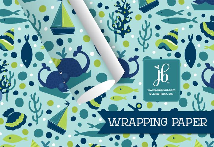 Birthday Whale Wrap RW