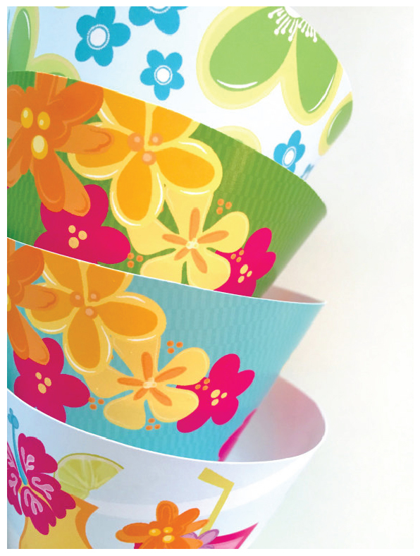 Luau Party Cupcake Wrappers from Julie Bluet on Etsy