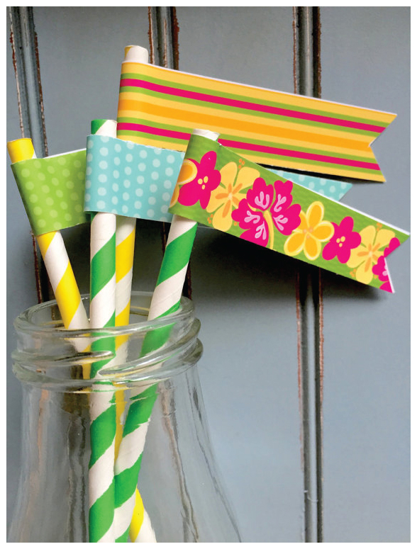 Instant Download Luau Drink Flags from Julie Bluet on Etsy