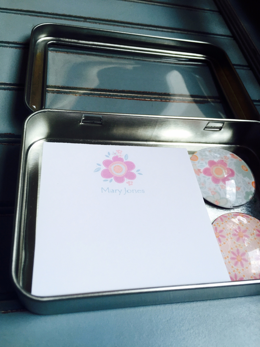Floral Note Pad and Magnet Gift Set
