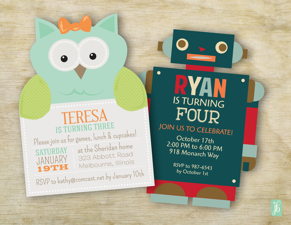 Die Cut Invitations