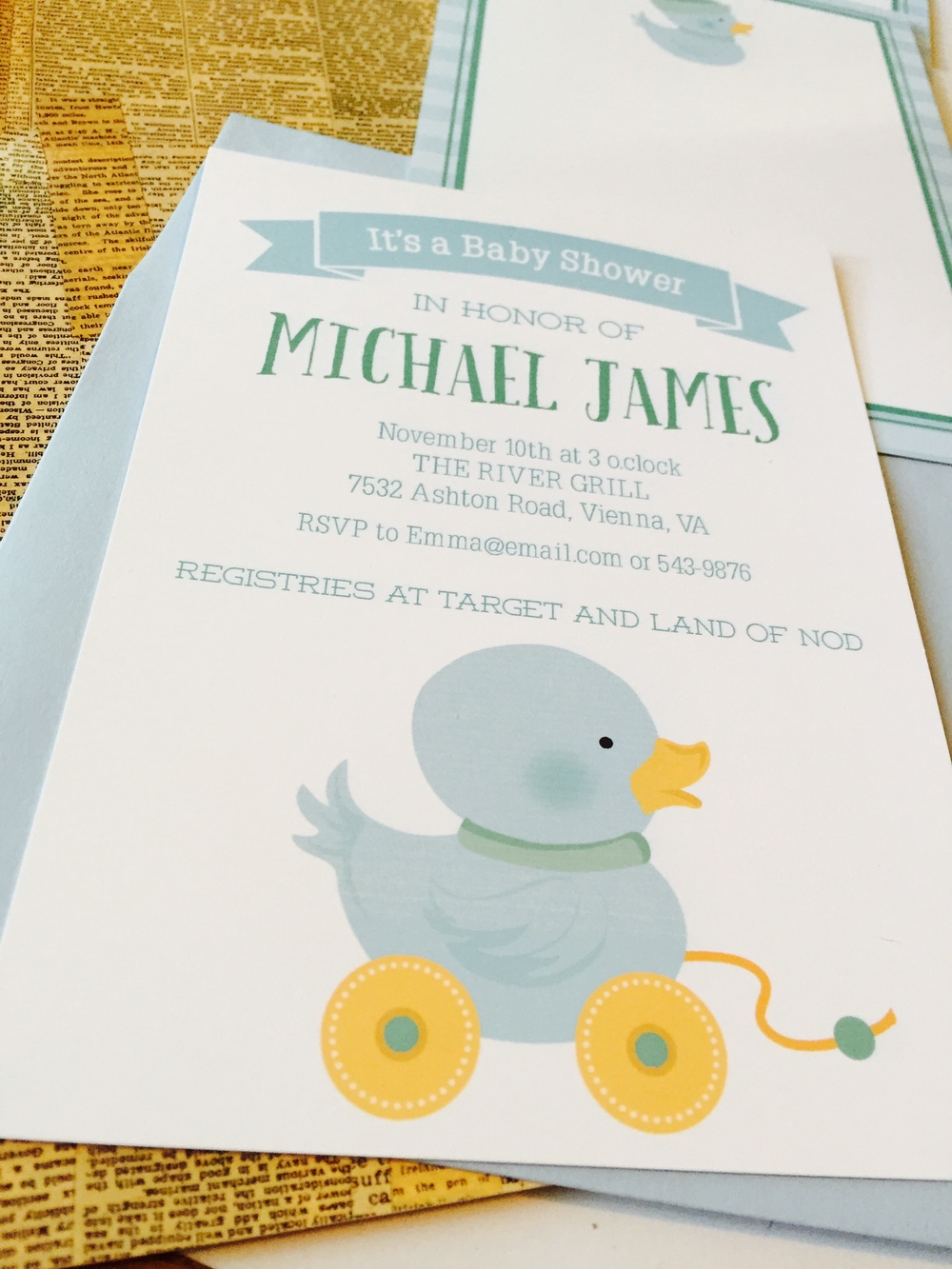Blue Ducky Invite