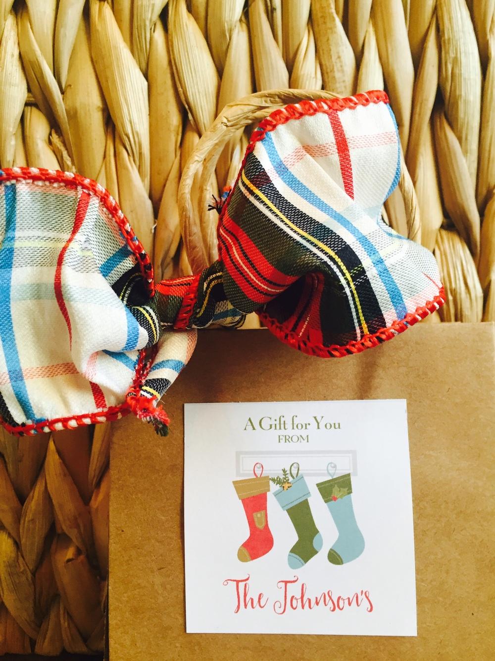 Three Stockings Gift Sticker