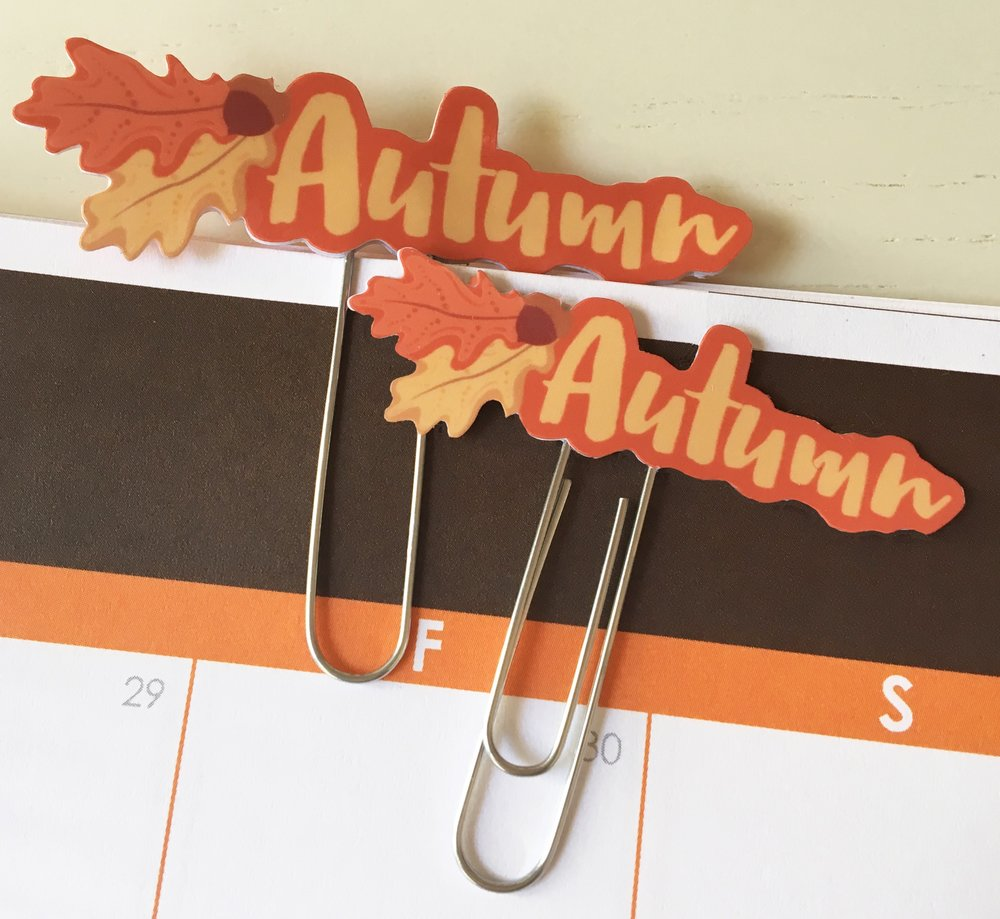 Autumn Planner Clips