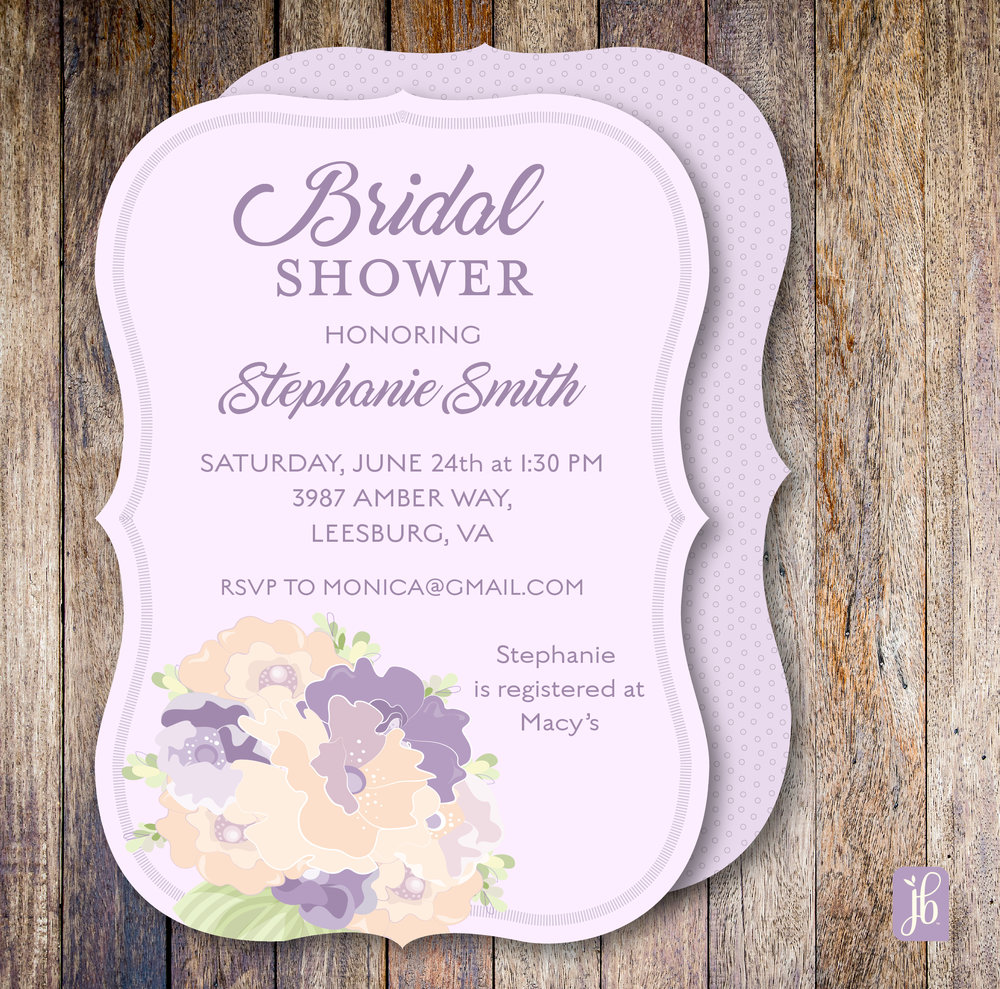 Lilac Bouquet Invitation